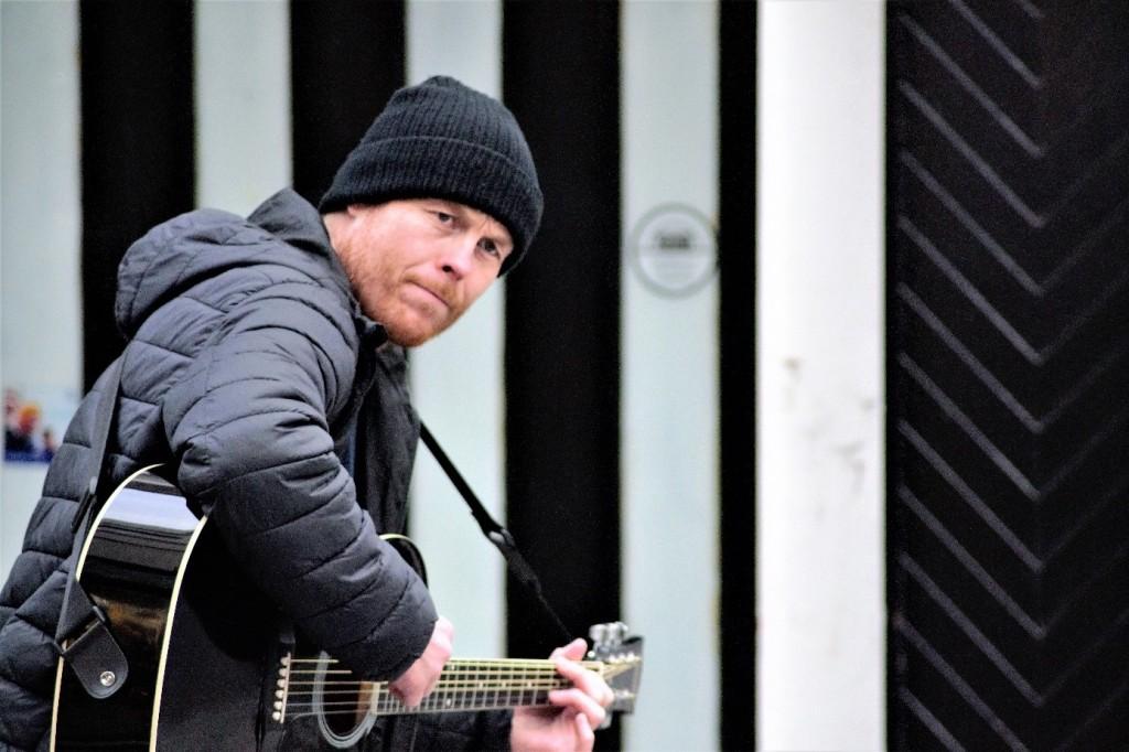 Street Music à Cork  Artistes Artistes de rue Chanteur Irland IRLANDE Music Musicien Musique
